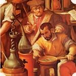 Francesco I nel suo laboratorio alchemico (Stradano, 1570, Palazzo Vecchio)