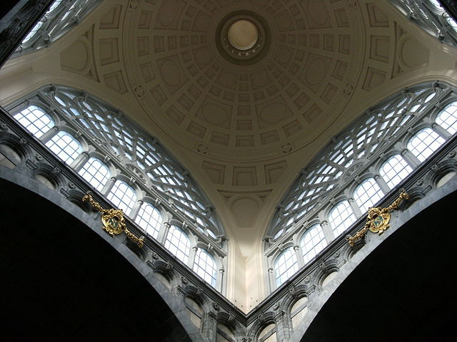 Dome roof inside Antwerp Central Station