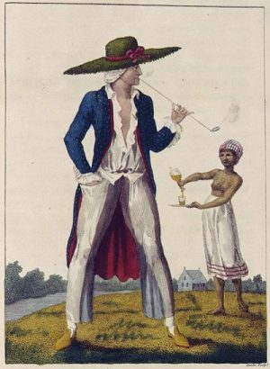 William Blake, A Surinam Planter in his Morning Dress, public domain on Wikimedia Commons