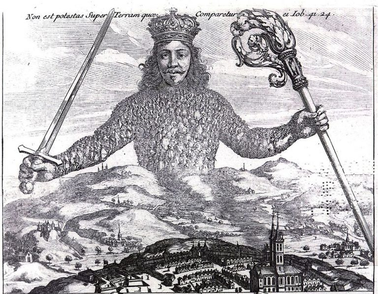Detail from Frontispiece to Hobbes' Leviathan