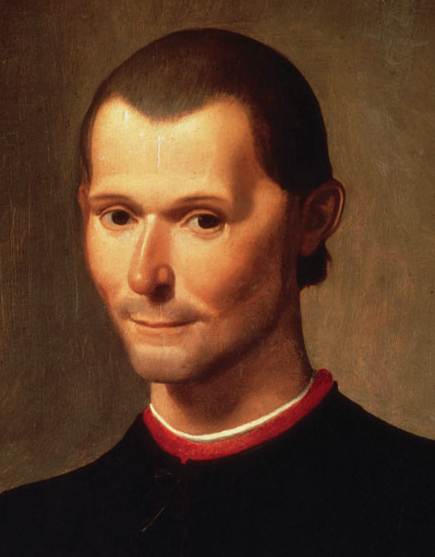 portrat of Niccolo Machiavelli from the shoulders up